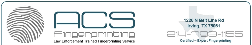 Fingerprinting Services Dallas Fort Worth TX